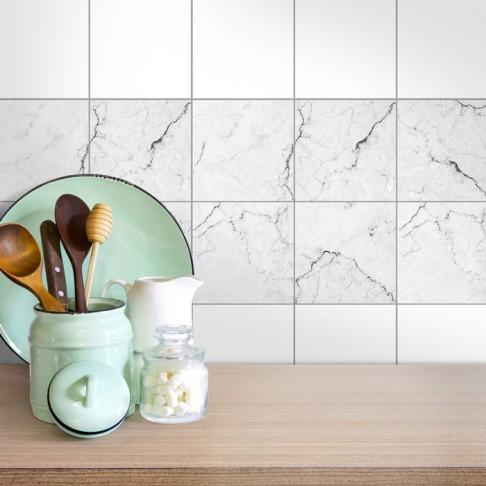 Fliesenaufkleber für die Küche Marmor