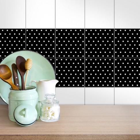 Fliesenaufkleber Weiße Punkte Küche