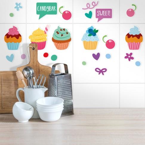 Cupcake Aufkleber Sticker