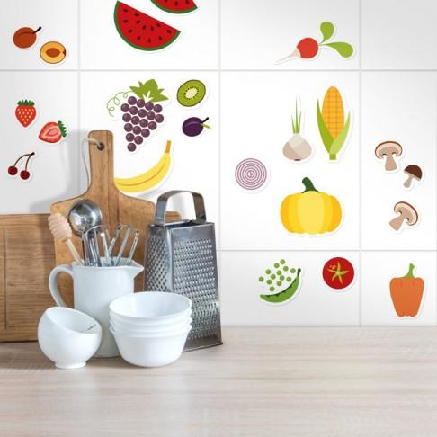 Obst und Gemüse Sticker