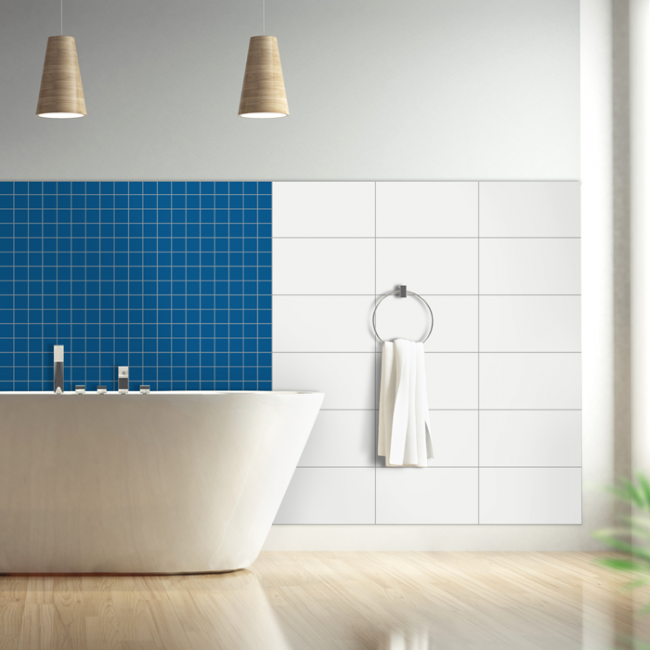 fliesenaufkleber in der gr e 2 2x2 2cm f r k che und bad. Black Bedroom Furniture Sets. Home Design Ideas