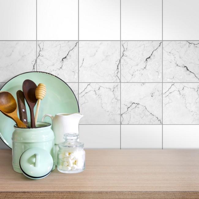 fliesenaufkleber 4er set marmor. Black Bedroom Furniture Sets. Home Design Ideas