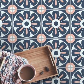 Fliesenaufkleber für Bodenfliesen  in Küche und Bad Floral