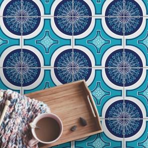 Fliesenaufkleber für Bodenfliesen  in Küche und Bad Manni