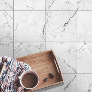 Bodenfliesenaufkleber 4er Set - marmor