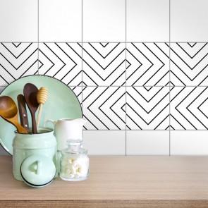 Fliesenaufkleber für die Küche Labyrinth